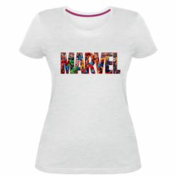 Женская стрейчевая футболка Marvel comics and heroes