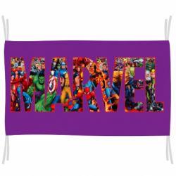 Флаг Marvel comics and heroes