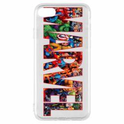 Чехол для iPhone 7 Marvel comics and heroes