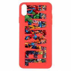 Чехол для iPhone X/Xs Marvel comics and heroes