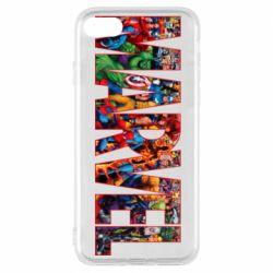 Чехол для iPhone 8 Marvel comics and heroes