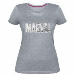 Жіноча стрейчева футболка Marvel drawing
