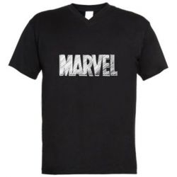 Чоловіча футболка з V-подібним вирізом Marvel drawing