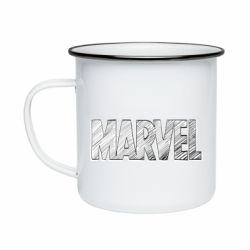 Кружка емальована Marvel drawing