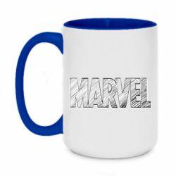 Кружка двоколірна 420ml Marvel drawing