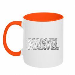Кружка двоколірна 320ml Marvel drawing