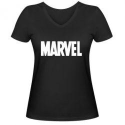 Жіноча футболка з V-подібним вирізом Marvel Minimal
