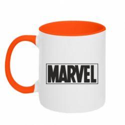 Кружка двоколірна 320ml Marvel Minimal