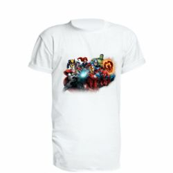 Подовжена футболка Marvel team