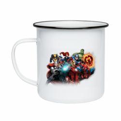 Кружка емальована Marvel team