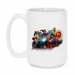 Кружка 420ml Marvel team
