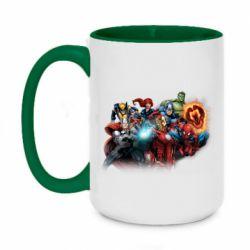 Кружка двоколірна 420ml Marvel team