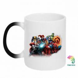 Кружка-хамелеон Marvel team