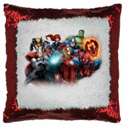 Подушка-хамелеон Marvel team