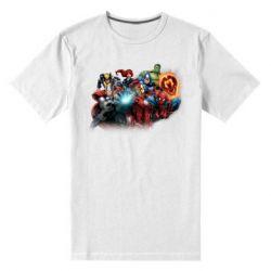 Чоловіча стрейчева футболка Marvel team