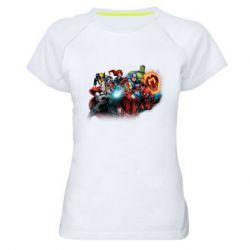 Жіноча спортивна футболка Marvel team