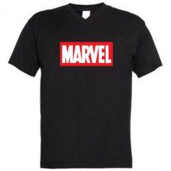 Мужская футболка  с V-образным вырезом MARVEL - FatLine