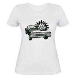 Женская футболка Машина Винчестеров