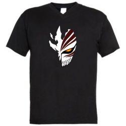 Чоловіча футболка з V-подібним вирізом маска Бліч