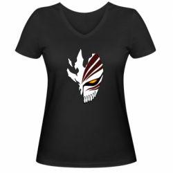 Жіноча футболка з V-подібним вирізом маска Бліч