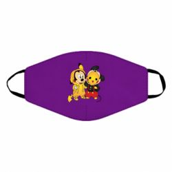Маска для лица Mickey and Pikachu