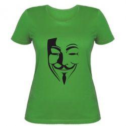 Женская футболка Маска Вендетта