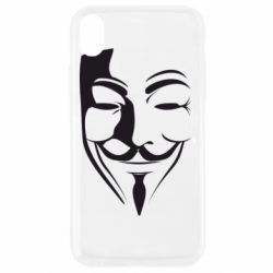 Чехол для iPhone XR Маска Вендетта