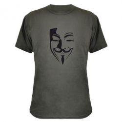 Камуфляжная футболка Маска Вендетта - FatLine