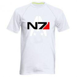 Купить Мужская спортивная футболка Mass Effect logo N7, FatLine