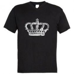 Мужская футболка  с V-образным вырезом Массивная корона