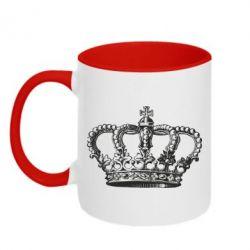 Кружка двухцветная Массивная корона