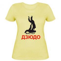 Женская футболка Мастер Дзюдо - FatLine