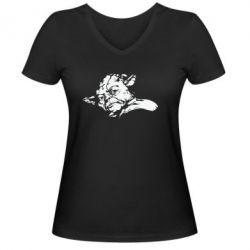 Женская футболка с V-образным вырезом Мастер Йода - FatLine