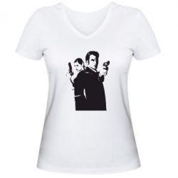 Женская футболка с V-образным вырезом Max Payne 2 - FatLine