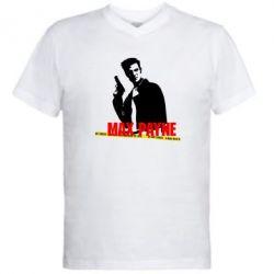 Мужская футболка  с V-образным вырезом Max Payne - FatLine
