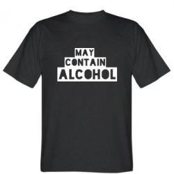 Футболка May contain alcohol