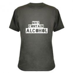 Камуфляжная футболка May contain alcohol