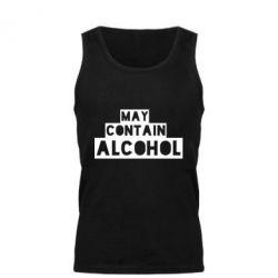 Мужская майка May contain alcohol