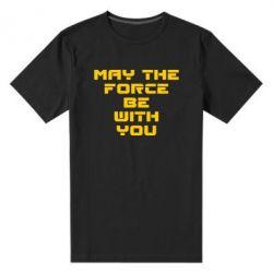 Мужская стрейчевая футболка May the force be with you