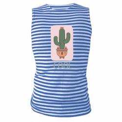 Майка-тельняшка Cactus art