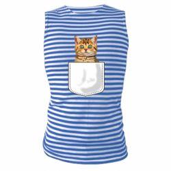 Майка-тельняшка Cat in your pocket