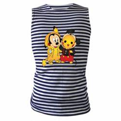 Майка-тельняшка Mickey and Pikachu