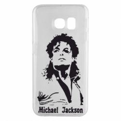 Чехол для Samsung S6 EDGE Майкл Джексон