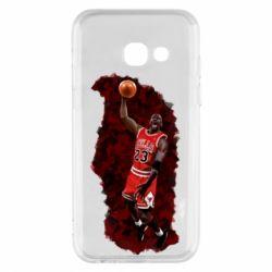Купить Chicago Bulls, Чехол для Samsung A3 2017 Майкл Джордан, FatLine