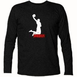 Футболка с длинным рукавом Майкл Джордан - FatLine
