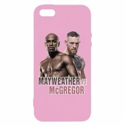 Купить UFC, Чехол для iPhone5/5S/SE Mayweather vs McGregor, FatLine