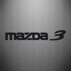 Наклейка Mazda 3