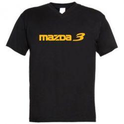 Мужская футболка  с V-образным вырезом Mazda 3 - FatLine