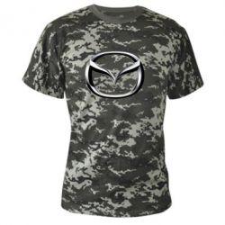 Камуфляжная футболка Mazda 3D Logo - FatLine
