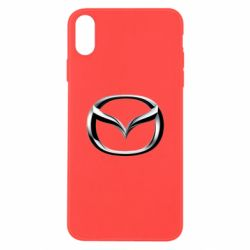 Чехол для iPhone X/Xs Mazda 3D Logo